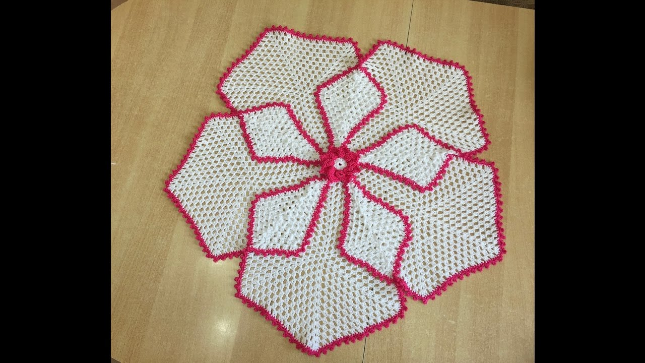Tuto Nappe Tapis Hexagonal Au Crochet Special Gaucher Youtube