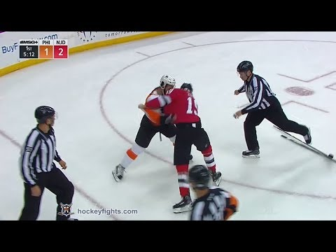 Radko Gudas vs Travis Zajac Feb 1, 2018