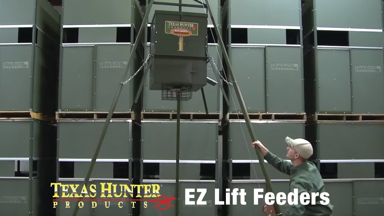 Deer skinning pole plans - Ez Lift Deer And Wildlife Feeding Systems By Texas Hunter Products