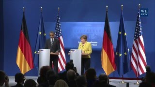 President Obama Holds a Press Conference with Chancellor Angela Merkel