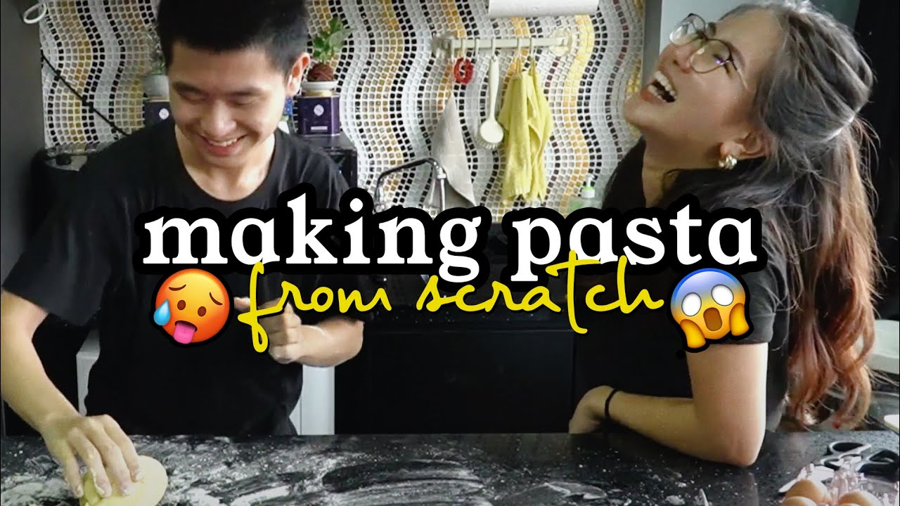 MAKING PASTA WITH MY BRO... help | slurp from scratch