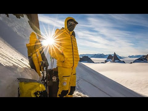 Climbers on scaling Antarctica mountains, spirit of exploration
