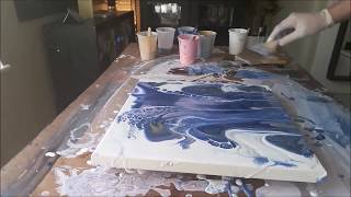 Acrylic Fluid Pouring Another Technique