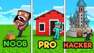 Minecraft - LEGO BUILD CHALLENGE! (NOOB vs PRO vs HACKER)