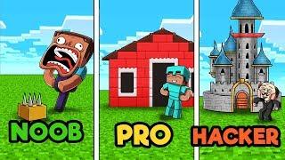 Minecraft - LEGO BUILD CHALLENGE! (NOOB vs PRO vs HACKER)