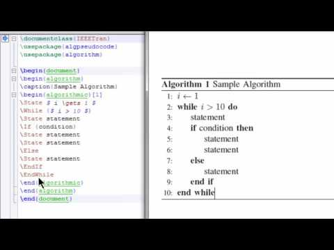 How to write an algorithm in latex (2 methods)