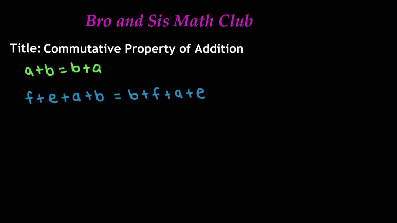 Commutative Property of Addition - 7th Grade Math - YouTube [ 720 x 1280 Pixel ]