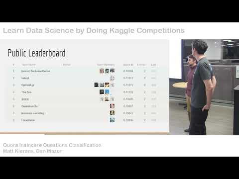 Kaggle Meetup Quora Insincere Questions Classification Youtube