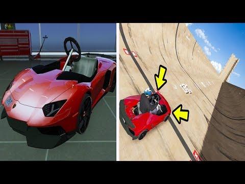 GTA 5 - Lamborghini Kart DESCENDO a MAIOR RAMPA DO MUNDO!