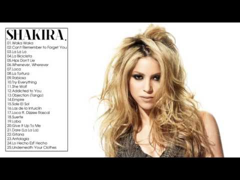Shakira Greatest Hits Full ALbum   2017