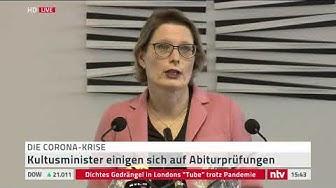 Live: Kultusministerkonferenz erklärt die Entscheidung, Abiturprüfungen durchzuführen