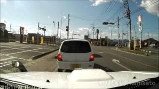 【ドラレコ】スタートとともにやらかす軽自動車