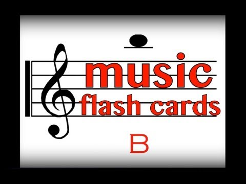 Music Flash Cards: Notes G, A & B