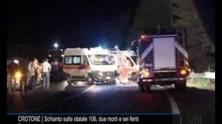Cn24 | CROTONE | Schianto sulla statale 106, due morti e sei feriti thumbnail