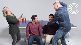 Couples Play Fear Pong (Emmanuel & Tyler vs. Brian & Dionne) | Fear Pong | Cut