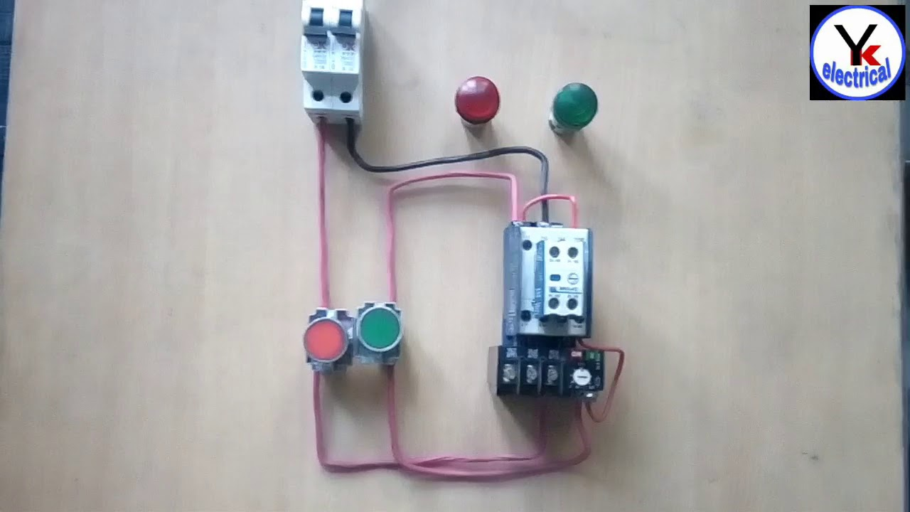 DOL Starter Control wiring में ON OFF Indicator Wiring | YK ...