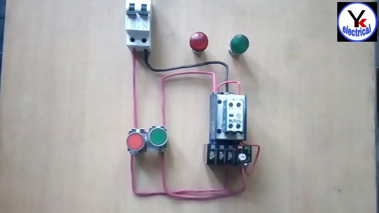 Dol Starter Control Wiring On Off Indicator Wiring