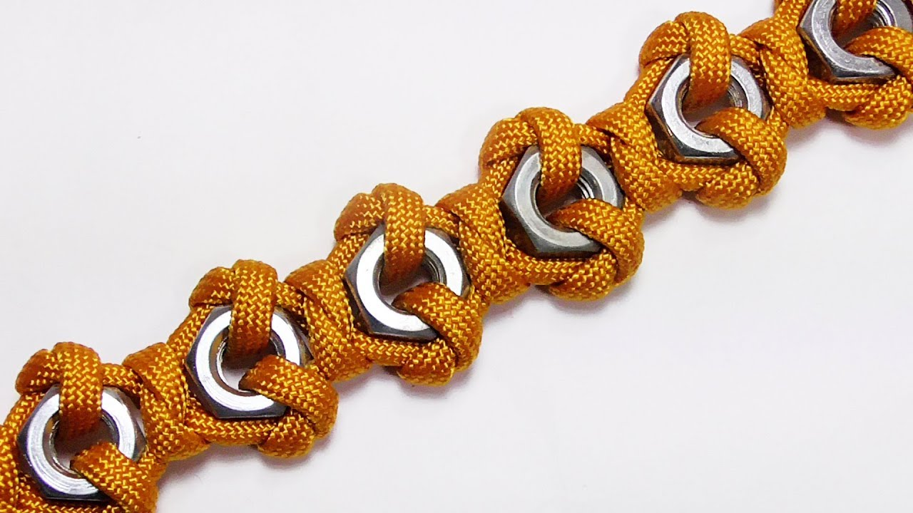 How you can make this hex nut paracord bracelet youtube for What can you make out of paracord