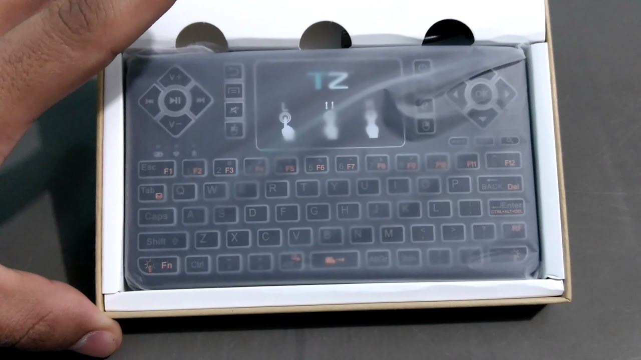 2990ff37c96 Tz Q9 bluetooth keyboard with touchpad mouse - YouTube