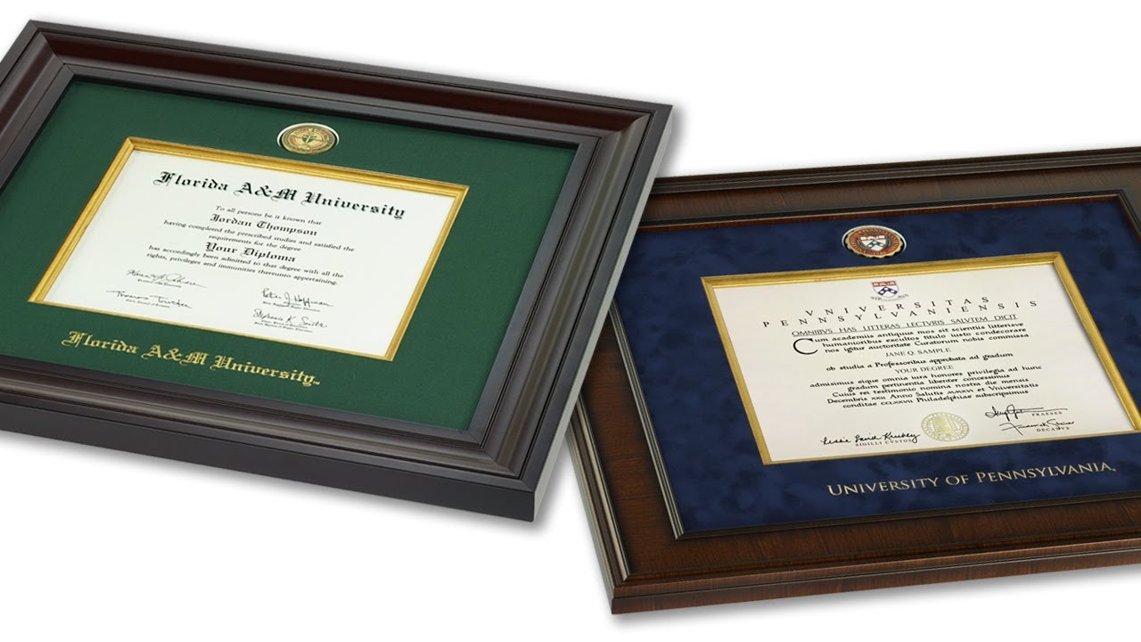 Presidential Diploma Frames Church Hill Classics Youtube