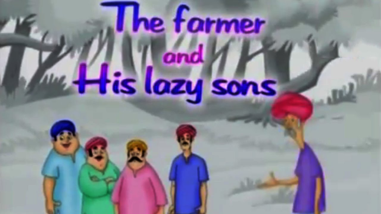The Farmer And His Lazy Sons - Animated Moral Story For Kids