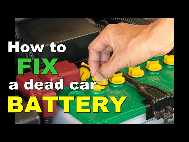How To RESTORE A Dead Car BATTERY - Use Battery Reconditioning!