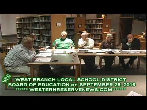 West Branch School Resolution to Ohio Condeming Charter Schools
