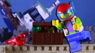 LEGO City Shipwreck Dive Fail STOP MOTION LEGO City: Billy's Treasure Hunt | LEGO | Billy Bricks