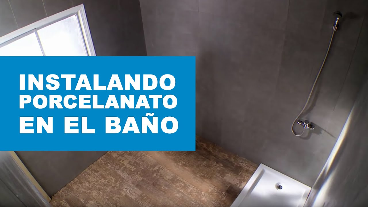 C mo instalar porcelanato en un ba o youtube for Desague bidet