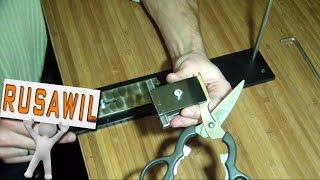 Простое приспособление для заточки ножниц(Простое устройство для заточки ножниц - это ещё один вариант использования простого поворотного устройств..., 2015-01-07T09:33:35.000Z)