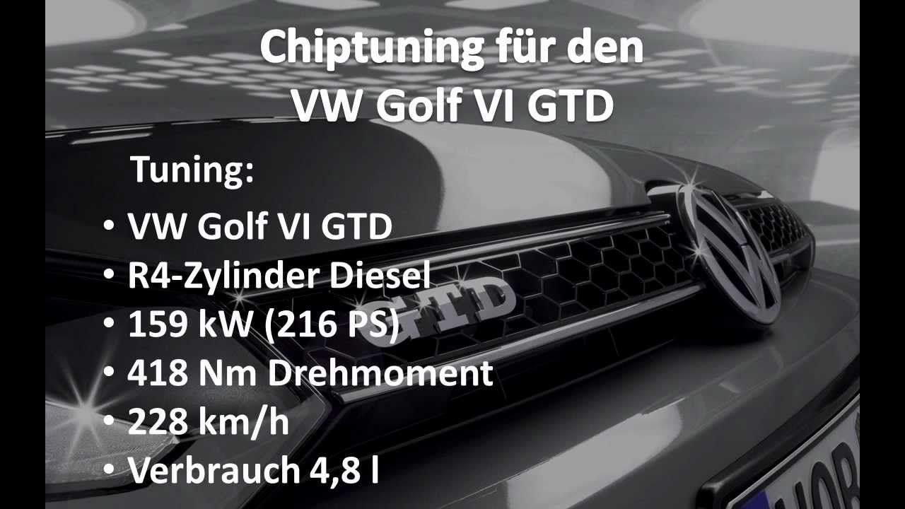 chiptuning golf 6 gtd 216 ps youtube. Black Bedroom Furniture Sets. Home Design Ideas