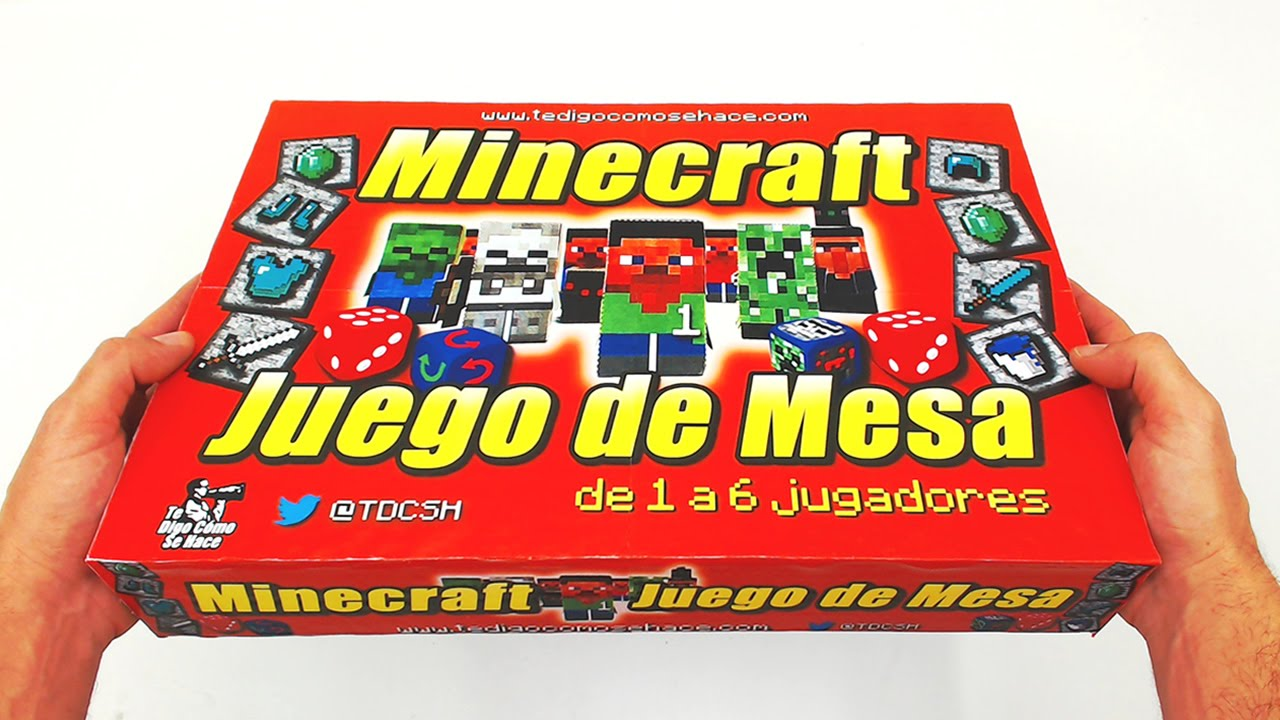 Juego De Mesa Inspirado En Minecraft Caja Youtube