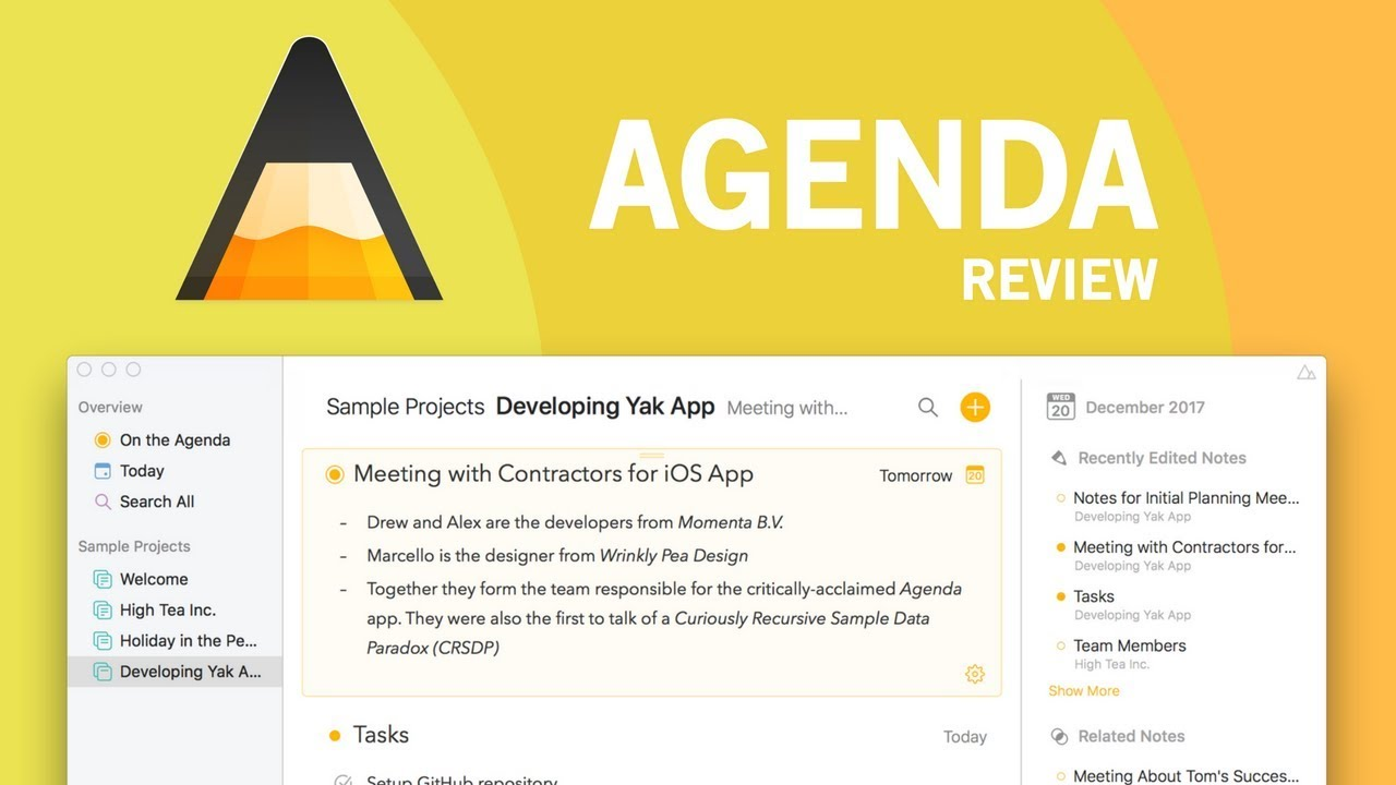 agenda for mac evernote challenger youtube