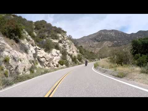 Route 39 Azusa CA San Gabriel Canyon Road going up to Crystal Lake
