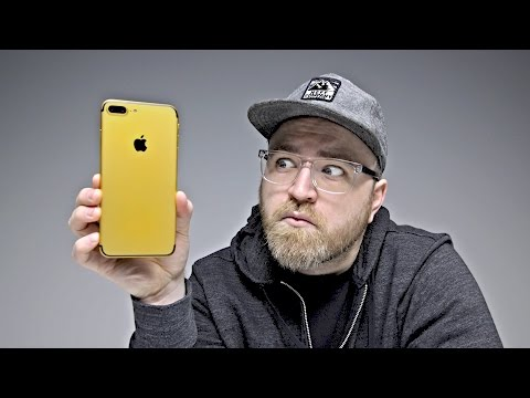 The $1700 Real Gold iPhone 7