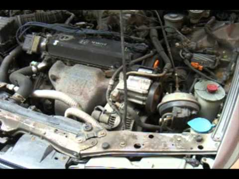 1993 Honda Accord - cold start, engine, exhaust - YouTube
