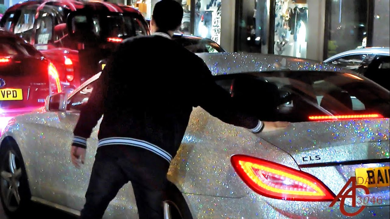 Superieur Lads Go Crazy About Swarovski Crystal Coated Mercedes CLS!