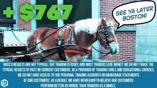 Leaving Boston +$767.33