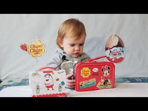 ЧУПА ЧУПС игрушка МИННИ МАУС коробка  Яйца с игрушкой КИНДЕР сюрприз ПРИНЦЕССЫ ДИСНЕЙ