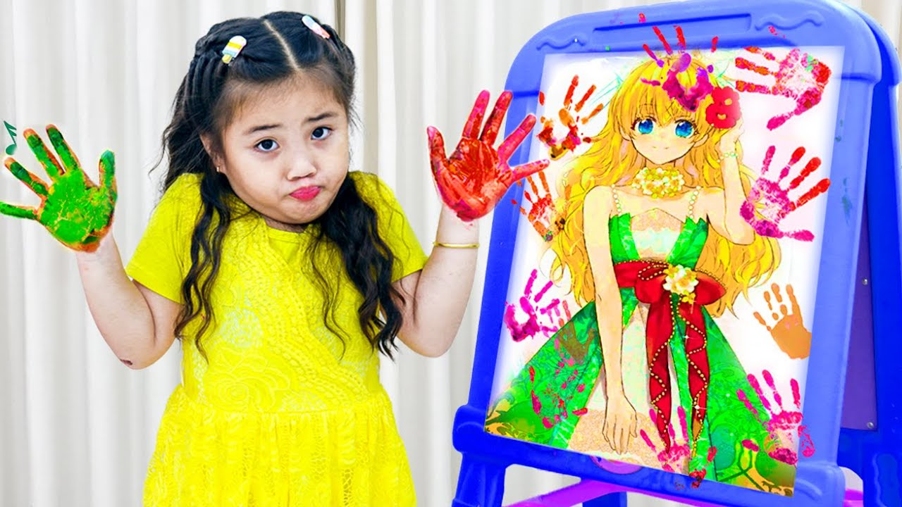 Annie and Sammy Pretend Play with Fun Colored Paint Kids Toys | Kids Play with Colors