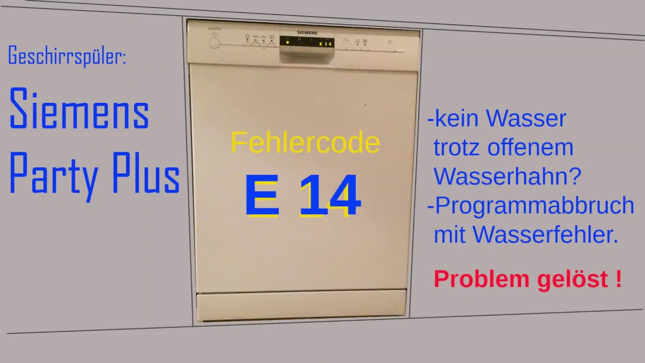 Siemens Party Plus Fehler E 14 Repariert Full Hd Youtube