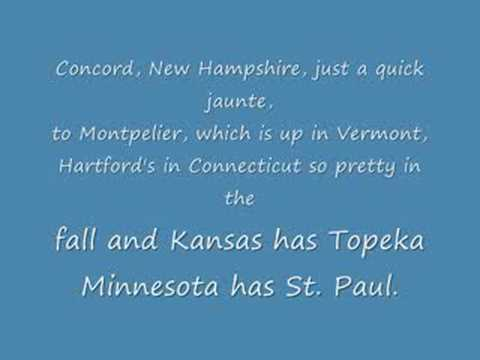 Animaniacs 50 US States & Capitals - LYRICS