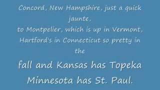 Animaniacs 50 US States & Capitals - LYRICS