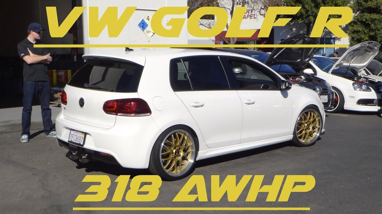Mk6 VW Golf R - APR Stage 2+ - 318AWHP - YouTube