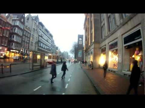 2013FEB Amsterdam lights with rain