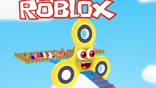 Roblox FIDGET SPINNER OBBY / SPIN YOUR WAY TO THE END OF THE FIDGET OBSTACLE!! Roblox