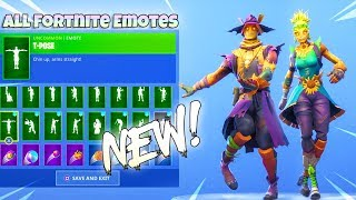 NEW! HALLOWEEN SKINS with 90+ DANCE EMOTES! Fortnite Battle Royale