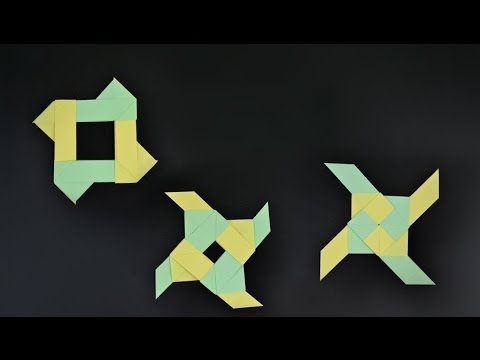 Origami: Transforming Ninja Star - Instructions In English (BR