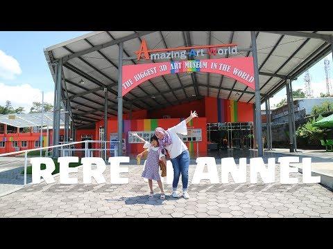 Jalan jalan ke Amazing Art World Bandung, Seru banget !! (part 1)