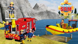 МУЛЬТИК ПРО ПОЖАРНОГО СЭМА, пожарную машину и спасательный катер. Смотрите мультик про спасателей